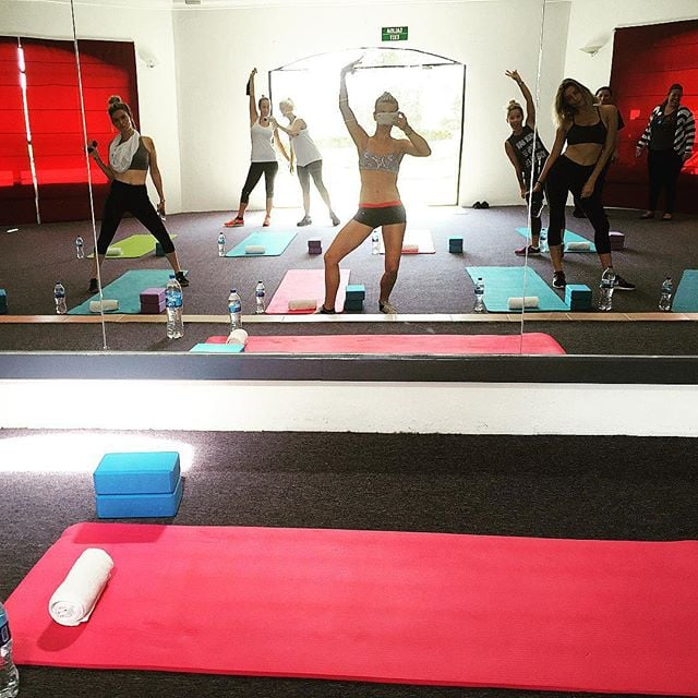 Julianne Hough had a fun-filled workout with these lovely ladies.