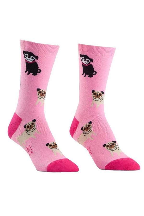 Pink Pug Socks ($35)
