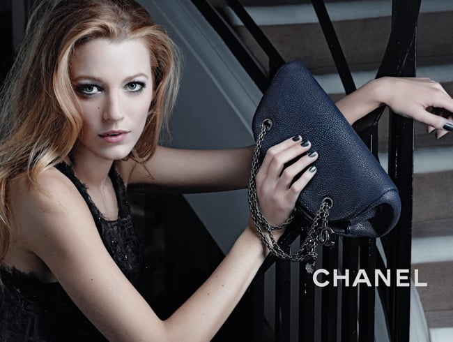 """>> After two Chanel dinners thrown within a week — in two different cities — to celebrate her new campaign for the brand, it sounds like Blake Lively and Karl Lagerfeld have become pretty close.WWD reports that at the second dinner, in Paris,Lively was """"rubbing Karl Lagerfeld's back as they stood side-by-side"""" during Florence Welch's performance. Lively's full campaign is now out — as seen in the gallery, with a couple of behind-the-scenes shots — and who knows what the relationship might bring in the future? Lily Allen, who did a handbag campaign for Chanel a couple of years ago, is now having her wedding dress designed by Lagerfeld."""