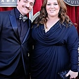 Melissa and Ben both wore navy blue to the 2012 SAG Awards.