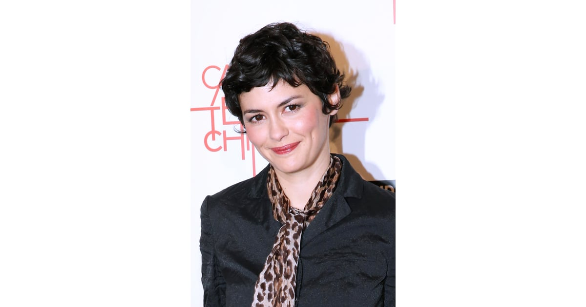 at the paris premiere for casse tete chinois audrey tautou looked celebrity hair at the. Black Bedroom Furniture Sets. Home Design Ideas