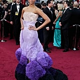 Zoe Saldana's 2010 Oscars Dress
