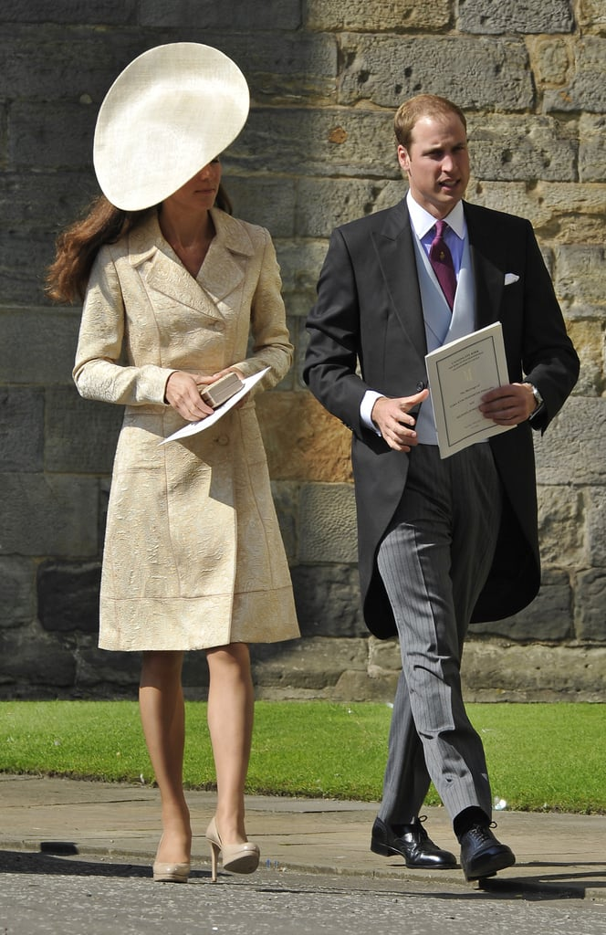 Kate Wearing Her Yellow Coat For Zara Phillips's Wedding, 2011
