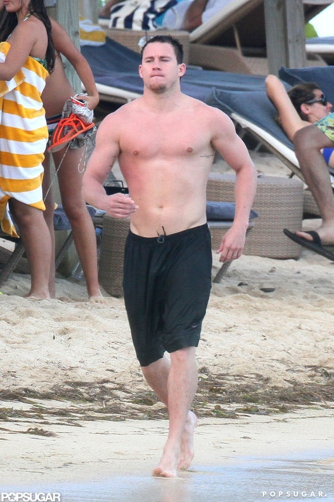 Channing Tatum showed off his abs.