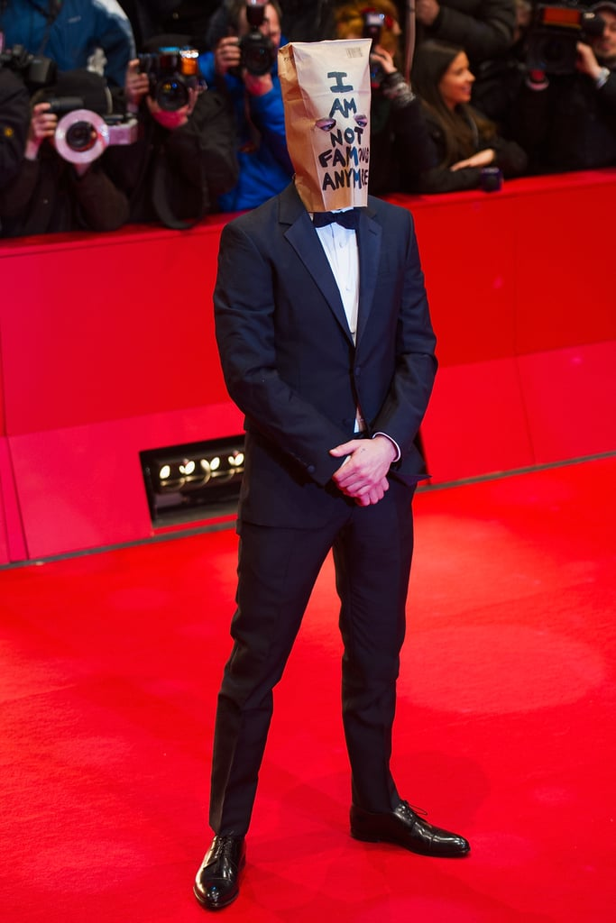 "Shia LaBeouf wore a paper bag that said ""I am not famous anymore"" at his Nymphomaniac premiere in Berlin, and his month only got crazier after that."