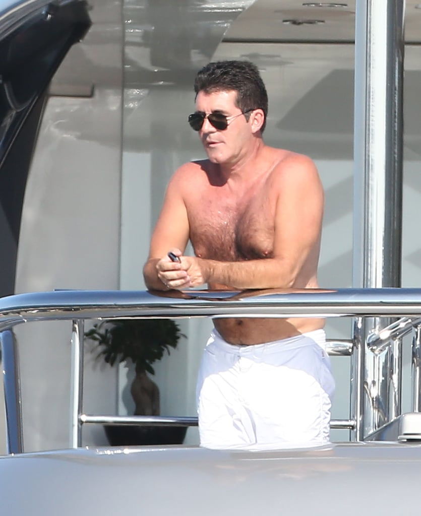 Simon Cowell took in the view.