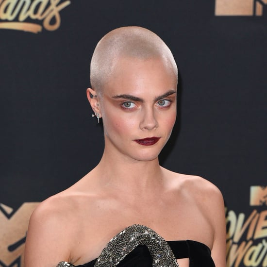 Cara Delevingne Shaved Head Tattoo