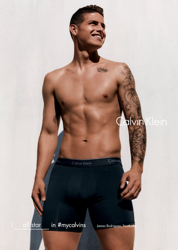 James Rodriguez Shows Off His Sexy Muscles and Smirk in a New Calvin Klein Campaign