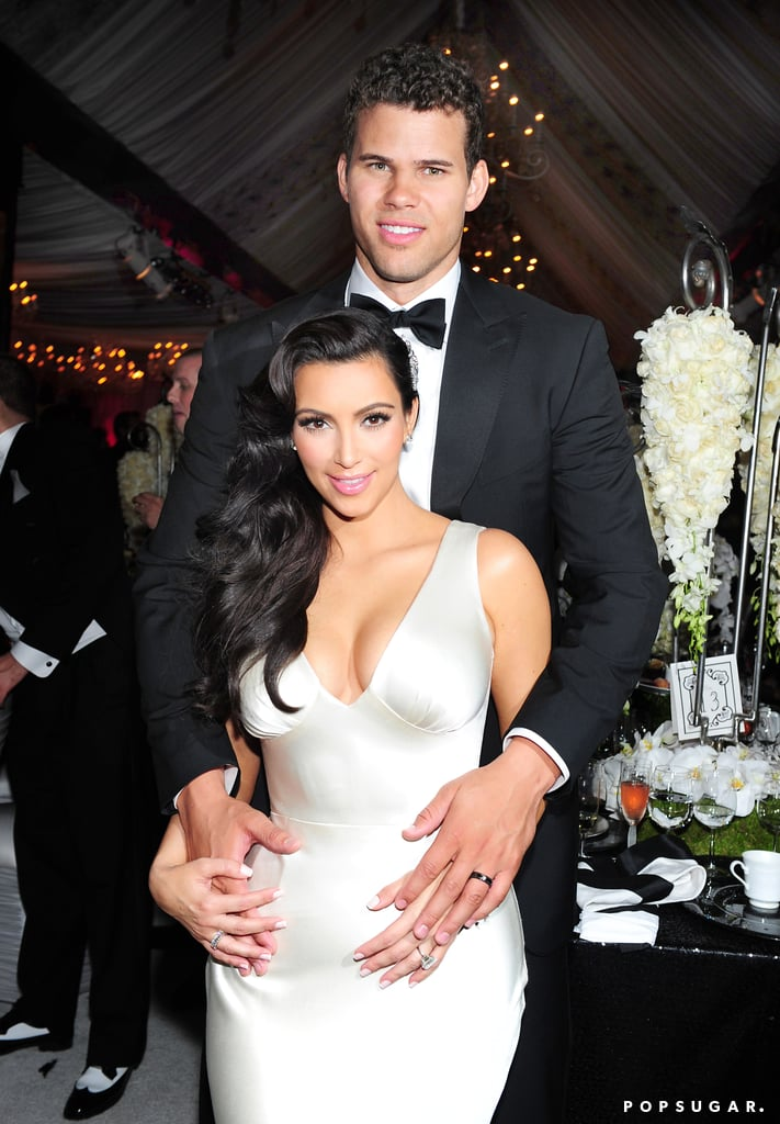 Kim showed off dress number three while Kris had a costume change of his own.