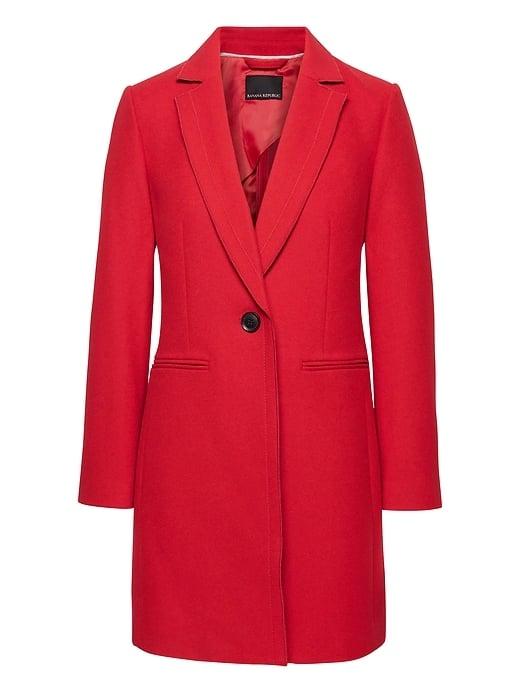 Italian Melton Wool-Blend Tailored Car Coat