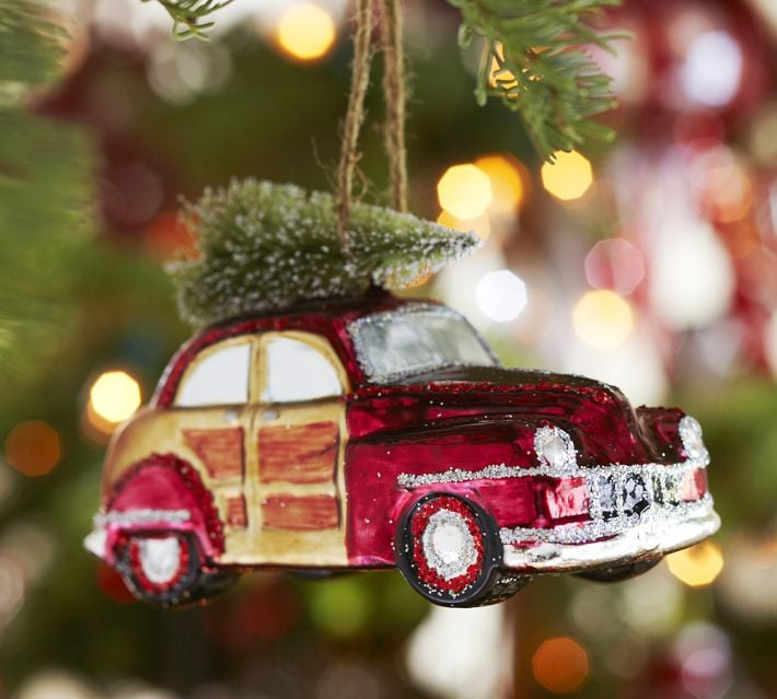 Part of the company's nostalgia collection, the Pottery Barn woody car ornament ($11) is a festive gift she'll have forever.