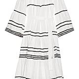 Lisa Marie Fernandez Rickrack-Trimmed Linen Maxi Dress — White