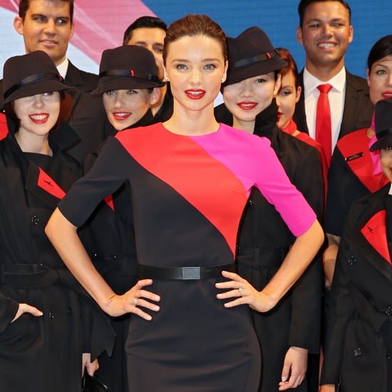 Miranda Kerr Models New Qantas Uniform in Sydney