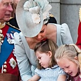 Kate Middleton Soothes Princess Charlotte June 2018