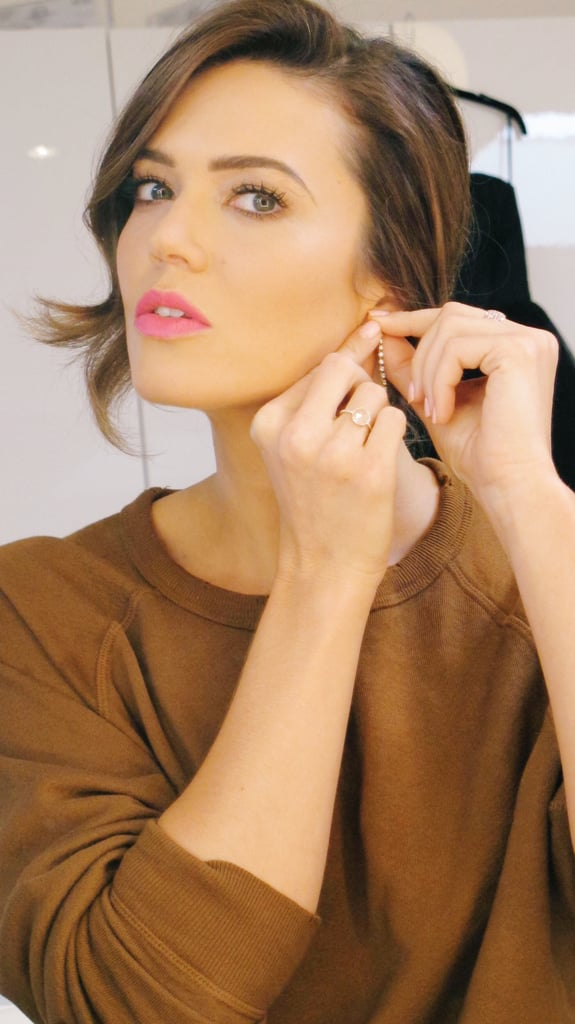 Mandy moore getting ready for the 2017 emmys mandy moores hair mandy moore getting ready for the 2017 emmys urmus Choice Image
