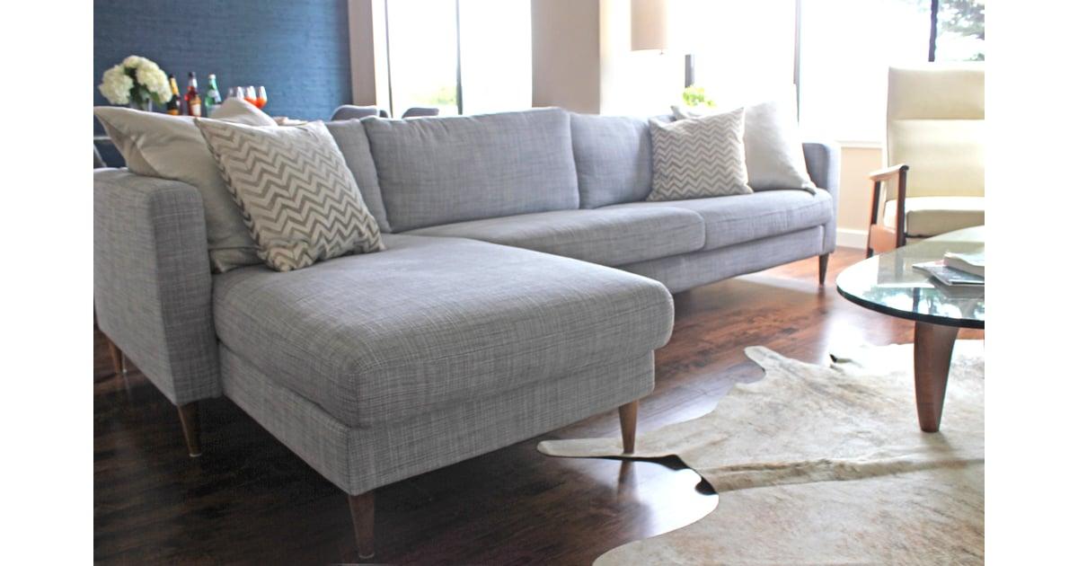 Sofa ikea  Dress Up an Ikea Sofa by Replacing the Legs | Home Hacks ...