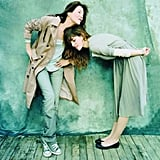 Mother-daughter model team Jane Birkin and Lou Doillon.