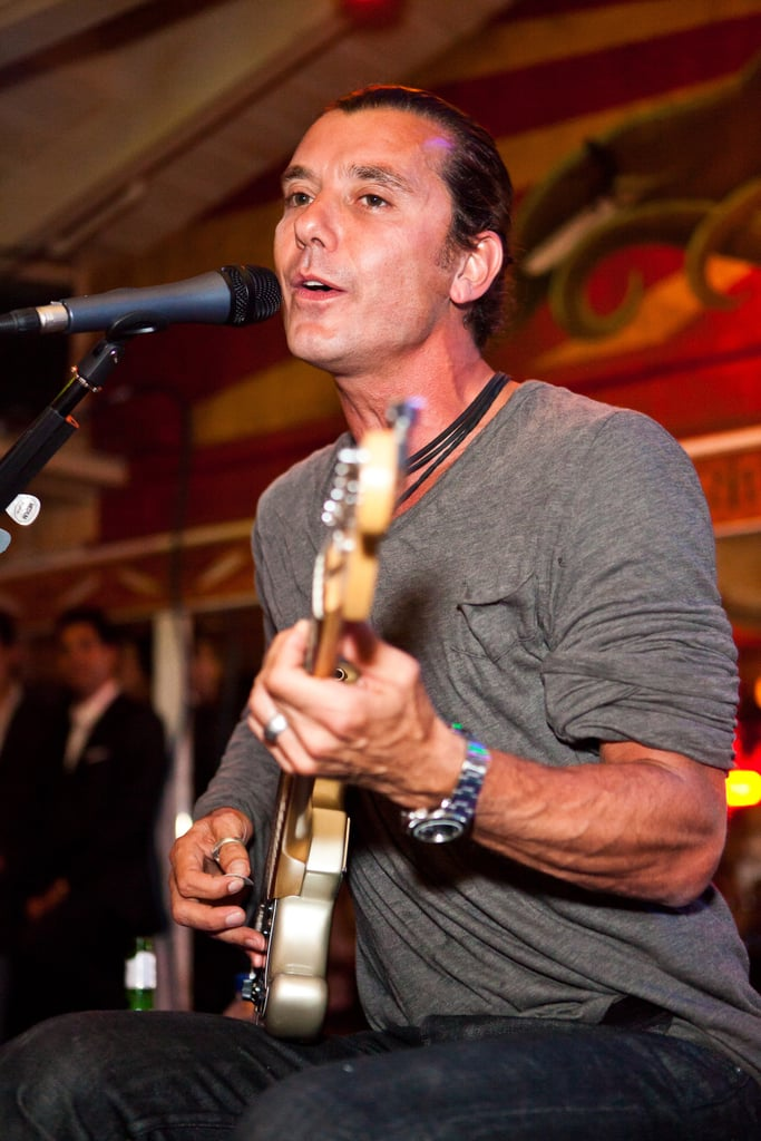 Gavin Rossdale strummed the guitar and sang at The Malibu Inn.