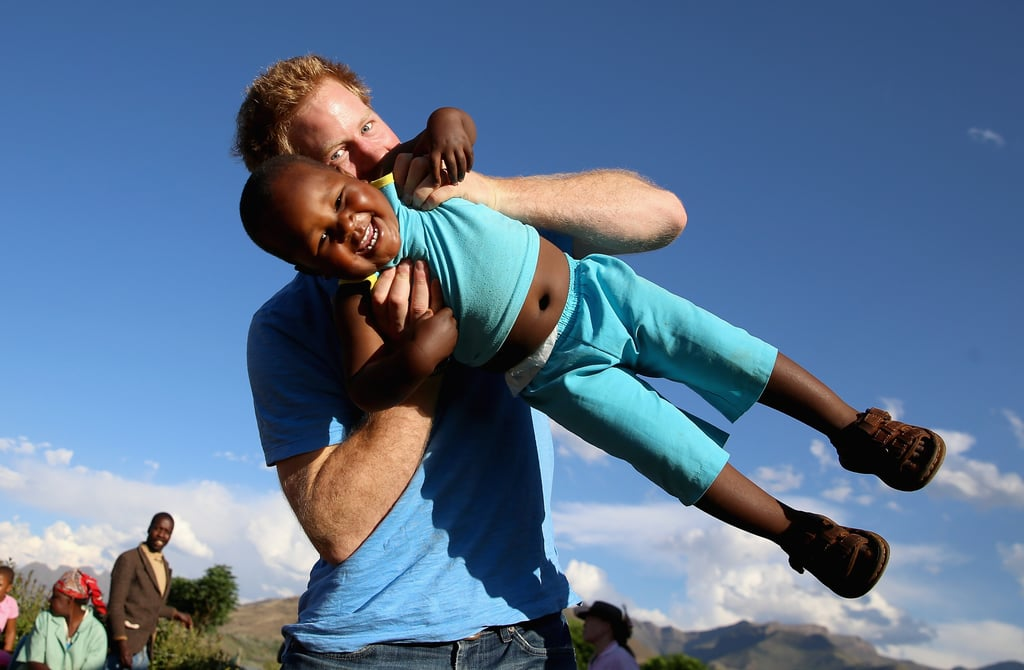 When He Was Hands-On During a Trip to Lesotho in 2014