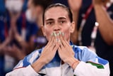 Gymnast Oksana Chusovitina Takes an Emotional Final Bow at Her Eighth Olympics