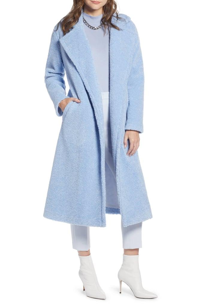 Something Navy Teddy Faux Fur Coat