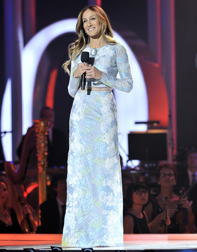 SJP was all smiles working a whimsical printed Erdem gown at the 2012 Nobel Peace Prize concert in Oslo, Norway.