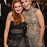 Pictured: Isla Fisher and Emily Blunt