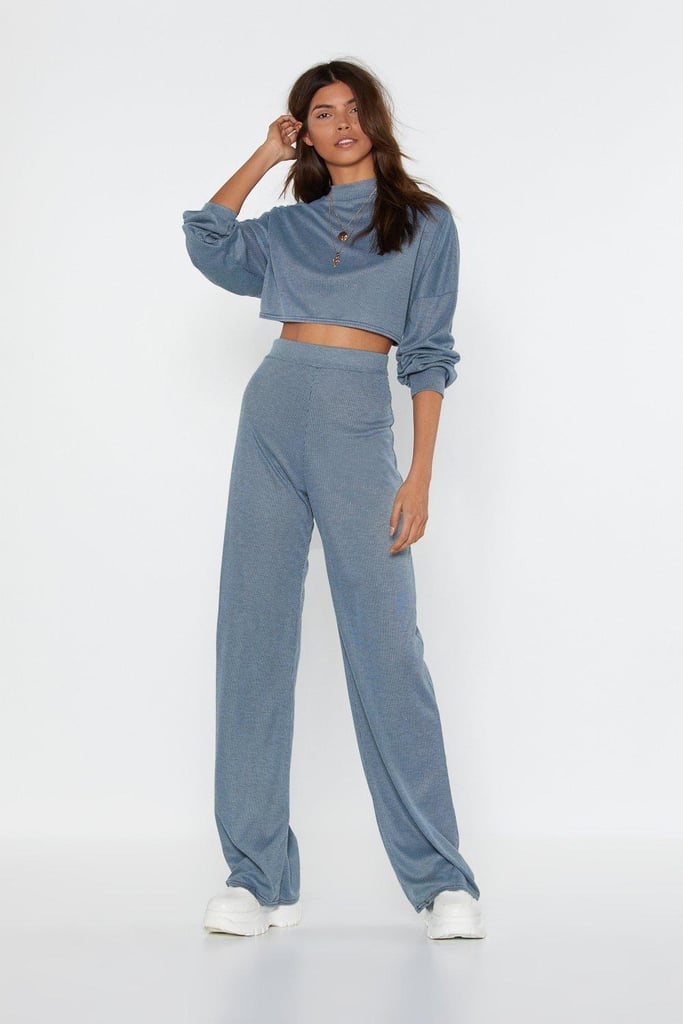 Back to Basics Crop Top and Pants Lounge Set