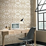 RoomMates White and Gold Shatter Geometric Wallpaper