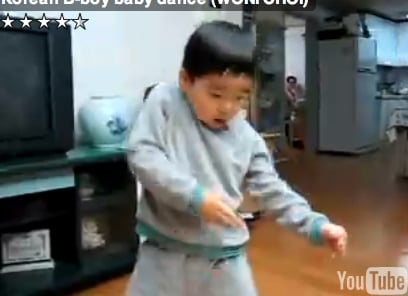 Cute Little Boy Dances Up a Storm