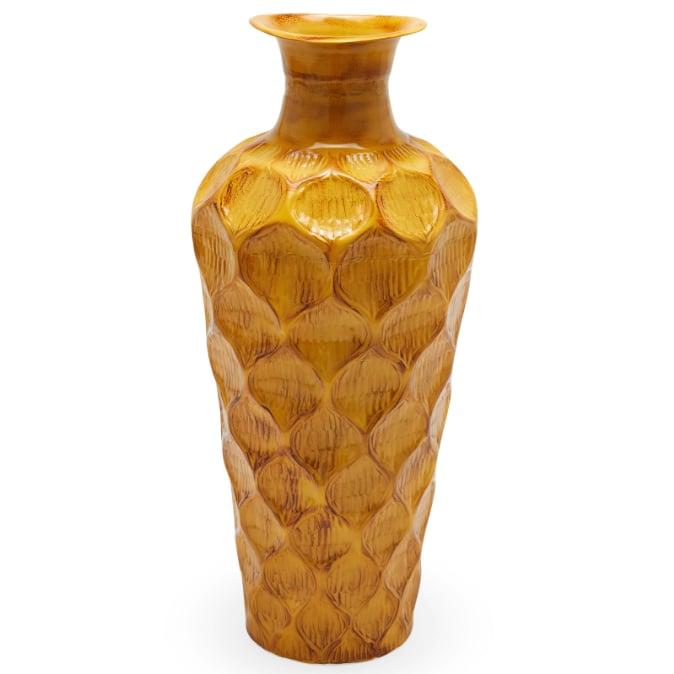 Jamaican Yellow Floor Vase