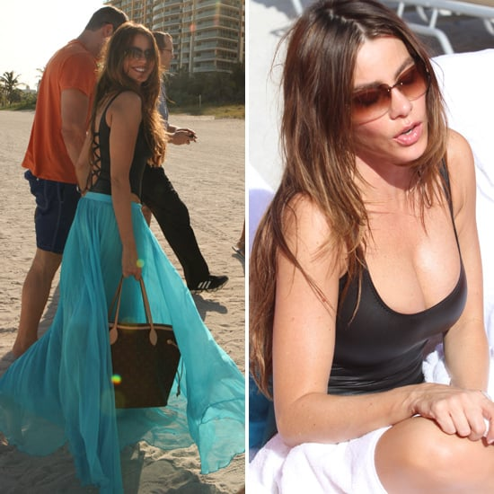 Sofia Vergara Shows Skin in a Cut-out Swimsuit