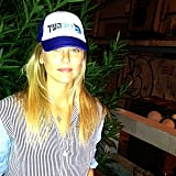 Bar Refaeli showed off a new baseball cap. Source: Instagram user barrefaeli