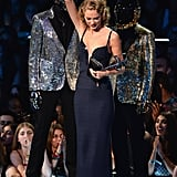 """In 2013, Taylor picked up another Moonman for best female video for """"I Knew You Were Trouble."""""""