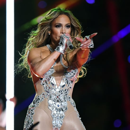 Jennifer Lopez's Swarovski Crystal Super Bowl Nail Art