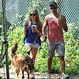 Amanda Seyfried and a friend took a walk with Amanda's dog in NYC.