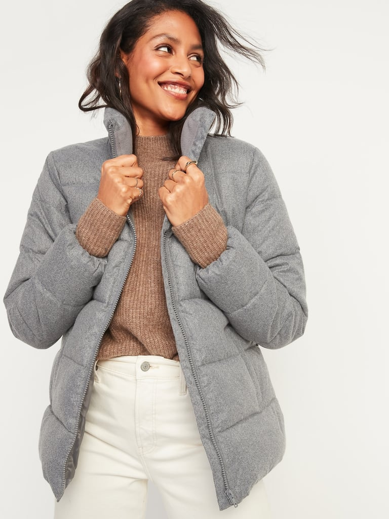 Old Navy Frost-Free Textured Puffer Zip Jacket
