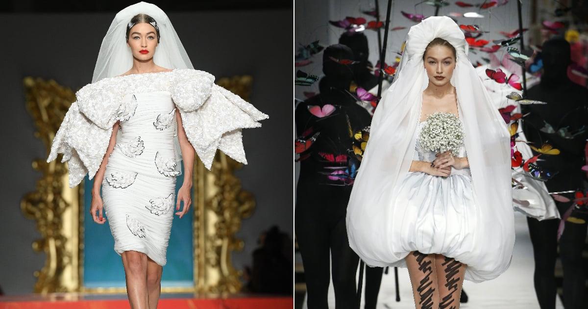 Gigi Hadid Just Walked Down the Runway as a Bride . . .  Again!