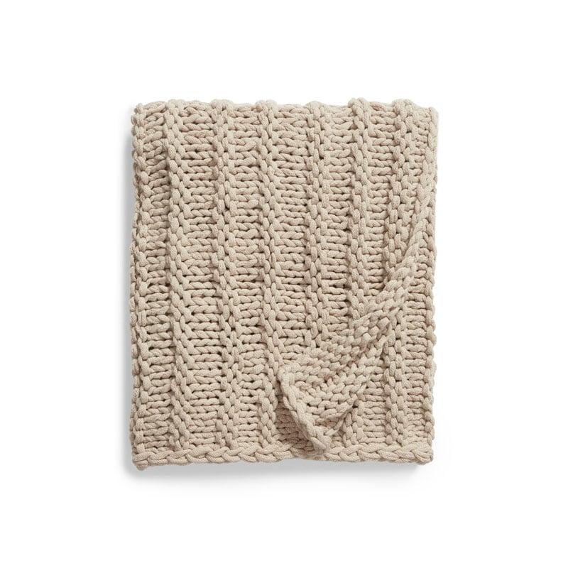 Treasure & Bond Jersey Rope Chunky Knit Throw Blanket