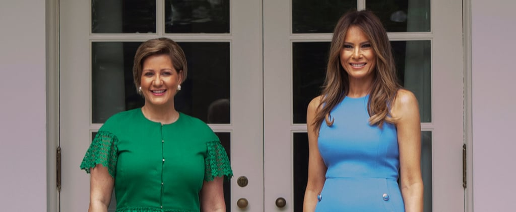 Melania Trump's Outfit Was All Business Right Until You Spot Her Heels