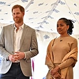 Doria watched Meghan give her first official royal speech while launching Together: Our Community Cookbook in September.