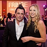 J.H. Wyman and Anna Torv smiled at the Fringe100 episodes and final season party in Vancouver.