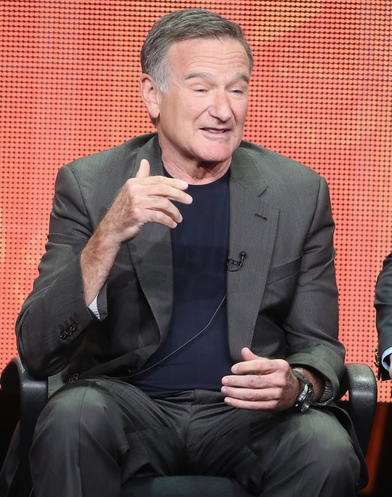 Robin Williams spoke on stage at the Summer TCA Press Tour.