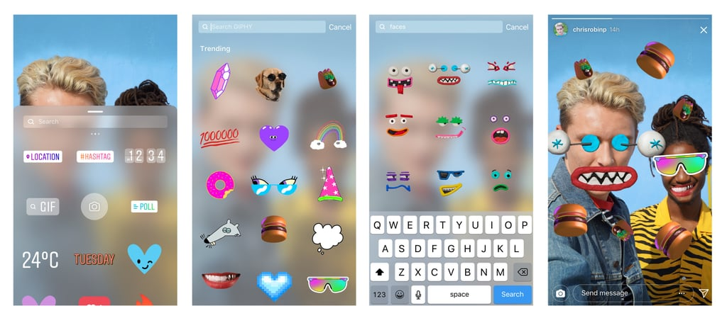 GIF Stickers in Instagram Stories