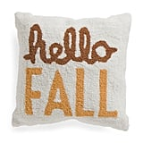 Hand Hooked Hello Fall Pillow