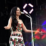 Kacey Musgraves with Neon Orange Nails