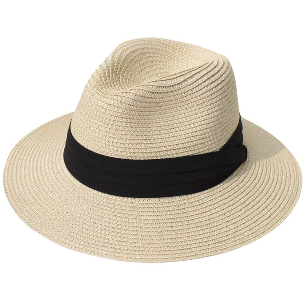 126837f9e4e Lanzom Women Wide Brim Straw Panama Hat