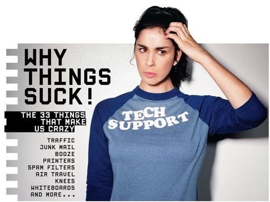 Sarah Silverman on the Cover of Wired Magazine