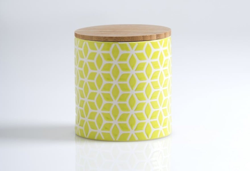 Store sugar, flour, or granola in this adorable (and food-safe) lidded jar ($18).