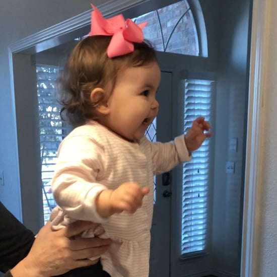 Toddler's Reaction to Her Mom Coming Home From Work